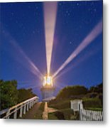 Lighthouse Beams By The Southern Cross Metal Print