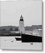 Lighthouse Calming Effect Metal Print