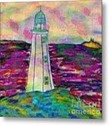Lighthouse Digital Color Metal Print