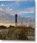 Lighthouse Dunes Metal Print