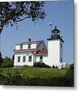 Lighthouse Fort Point Metal Print