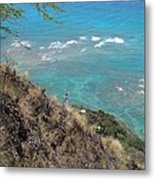 Lighthouse From Above Metal Print
