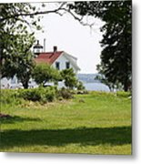 Lighthouse Hidden Behind Trees Metal Print