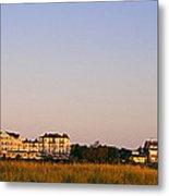 Lighthouse In A Town, Edgartown Metal Print