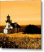 Lighthouse In Autumn Metal Print