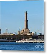 Lighthouse In Genova. Italy Metal Print