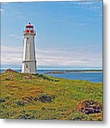 Lighthouse In Louisbourgh-ns Metal Print