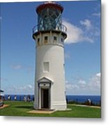 Lighthouse In Paradise Metal Print