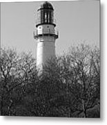 Lighthouse In Trees Metal Print