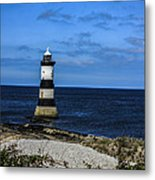 Lighthouse Isle Of Anglessy Wales Metal Print