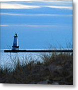 Lighthouse Lit Metal Print