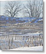 Lighthouse Of Lake Michigan At Muskegon Lake Harbor Channel Metal Print by Rosemarie E Seppala