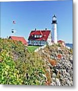 Lighthouse Of Maine Metal Print
