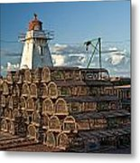 Lighthouse On A Channel By Cascumpec Bay On Prince Edward Island No. 094 Metal Print
