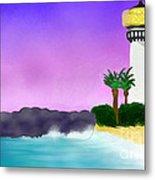 Lighthouse On Beach Metal Print