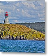 Lighthouse On Brier Island In Digby Neck-ns Metal Print