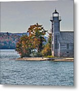 Lighthouse On Grand Island Michigan Metal Print
