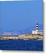 Lighthouse On Isla De Es Penjats Metal Print