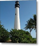 Lighthouse On Key Biscayne Metal Print