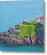 Lighthouse On Point In Signal Hill National Historic Site In Saint John's-nl Metal Print