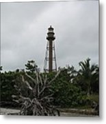 Lighthouse On Sanibel Island Metal Print