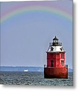 Lighthouse On The Bay Metal Print