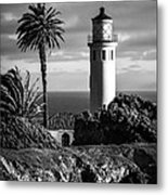 Lighthouse On The Bluff Metal Print