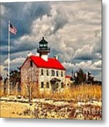 Lighthouse On The Delaware Metal Print