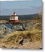 Lighthouse Over The Dunes Metal Print