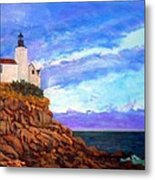 Lighthouse Overlook Metal Print