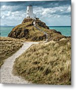 Lighthouse Path Metal Print