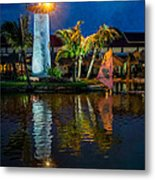 Lighthouse Reflection Metal Print by Adrian Evans