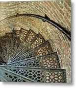Lighthouse Spiral Staircase Metal Print