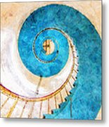 Lighthouse Staircase Metal Print