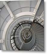 Lighthouse Stairs 2 Metal Print