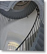 Lighthouse Stairs 3 Metal Print