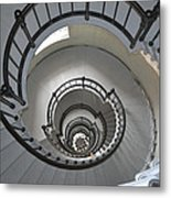 Lighthouse Stairs 4 Metal Print