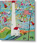 Cape May Point Lighthouse Magic Metal Print