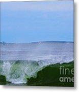 Lighthouse Through Wave Metal Print
