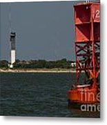 Lighthouse To Buoy Metal Print