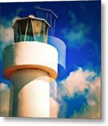 Lighthouse To The Clouds Metal Print