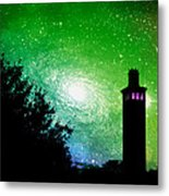 Lighthouse Under The Stars Xii Metal Print