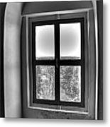 Lighthouse Window At Point Iroquois Metal Print
