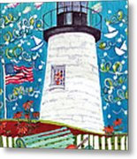 Lighthouse With Music Metal Print