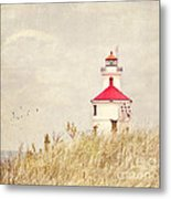 Lighthouse With Red Roof Metal Print