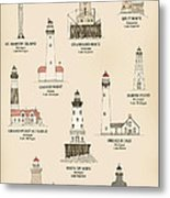 Lighthouses Of The Great Lakes Metal Print