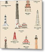 Lighthouses Of The Gulf Coast Metal Print