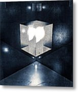 Lighting In Cube Metal Print