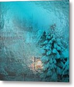 Lighting The Way Through A Frosted Dream Metal Print