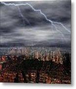 Lightning - North Rim Of Grand Canyon Metal Print